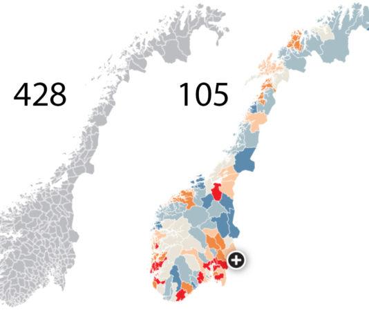 Slik blir Norge med 105 kommuner