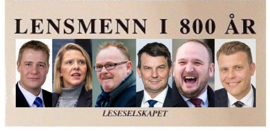 LENSMENN I 800 ÅR – JUSTISMINISTRE I 800 DAGER