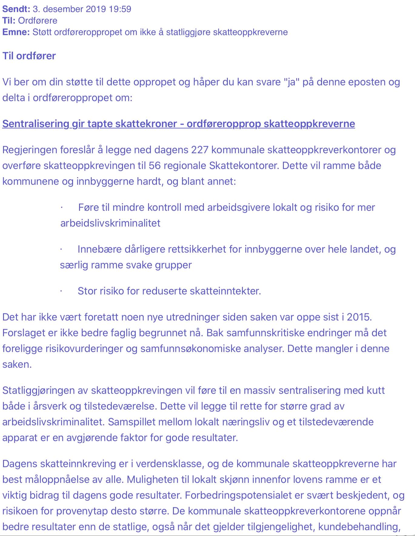 IMG 7301 - Ordføreropprop mot statliggjøring av skatteoppkreverkontorene